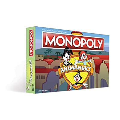 Monopoly Animaniacs Board Game | Based on The 90s Kids' WB Series | Officially Licensed Animaniacs Merchandise | Themed Classic Monopoly Game: Toys & Games