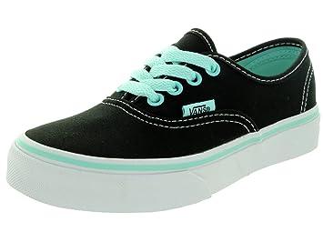 Vans Kids Authentic (Pop) Black Blue Tint Skate Shoe 13 Kids US ... 2784a544f26
