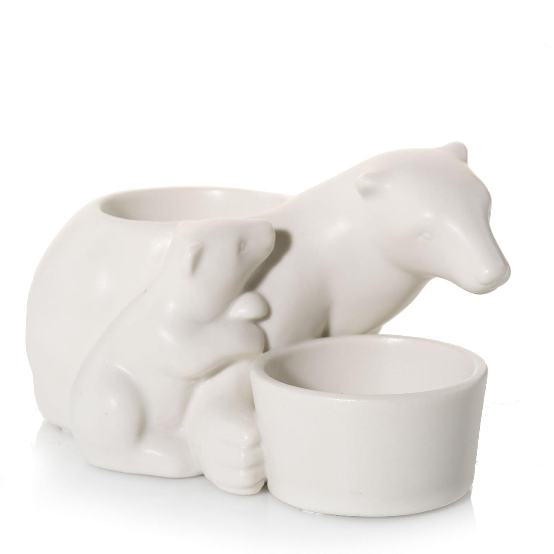 YANKEE CANDLE Vela portavelas de cerámica de Oso Polar Familia ...
