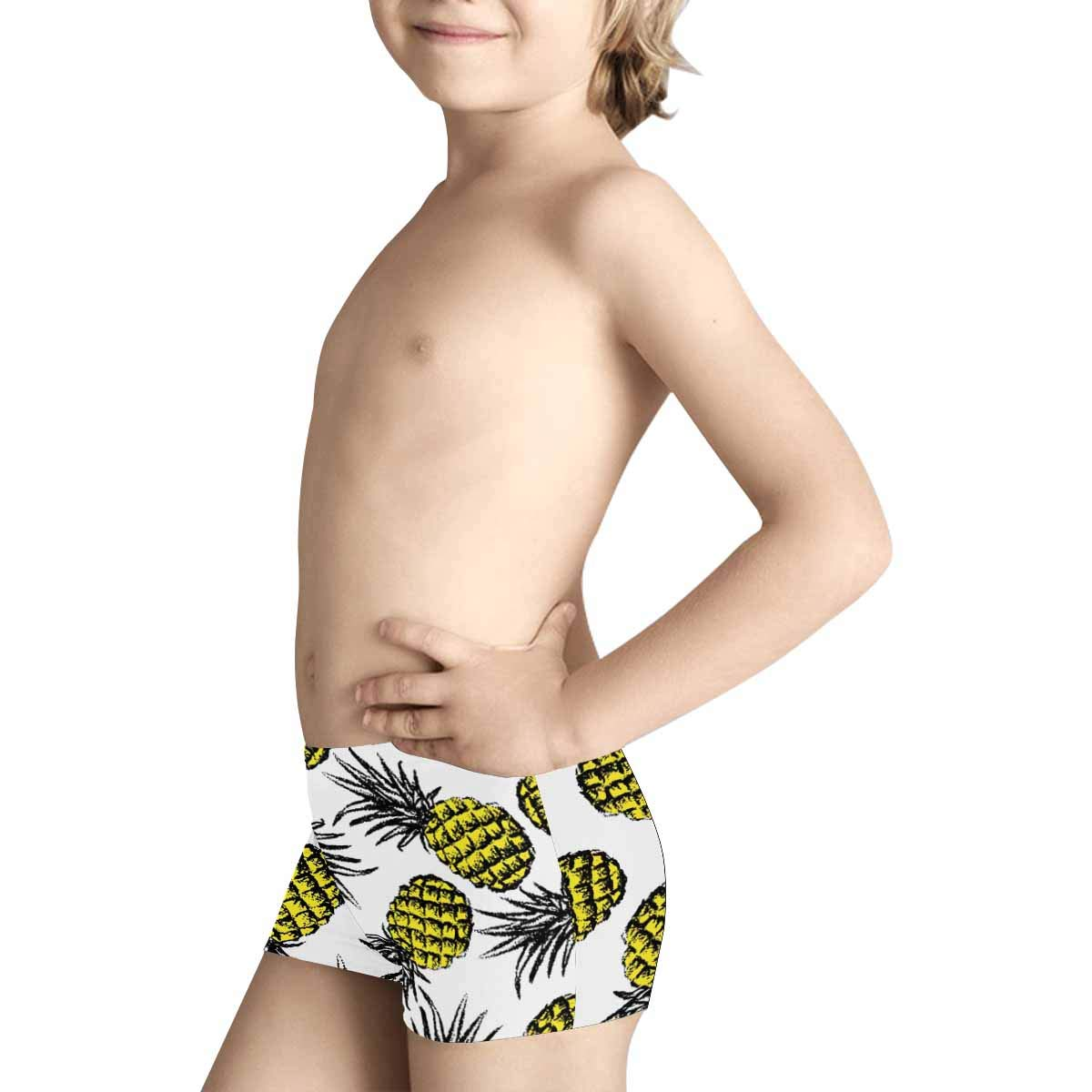 INTERESTPRINT Boys Pineapples ComfortSoft Printed Boxer Briefs 5T-2XL