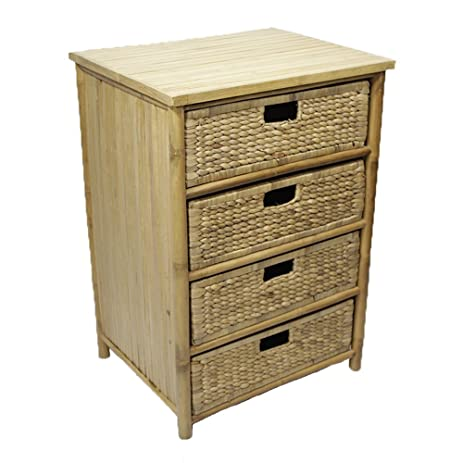 Amazon.com: Heather Ann Creations 4-Drawer Bamboo Solid Frame ...