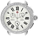 Watches : MICHELE Women's MW21A01A1966 Serein Analog Display Swiss Quartz Silver Watch Head
