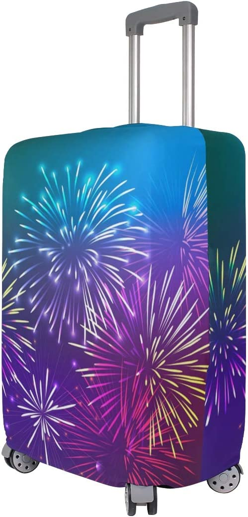FANTAZIO Beautiful Fireworks Suitcase Protective Cover Luggage Cover