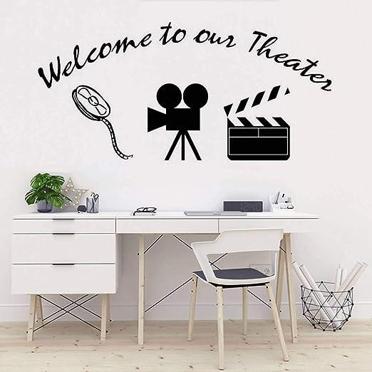 GUDOJK Bienvenido a Nuestro Cartel de Teatro Etiqueta de la Pared ...