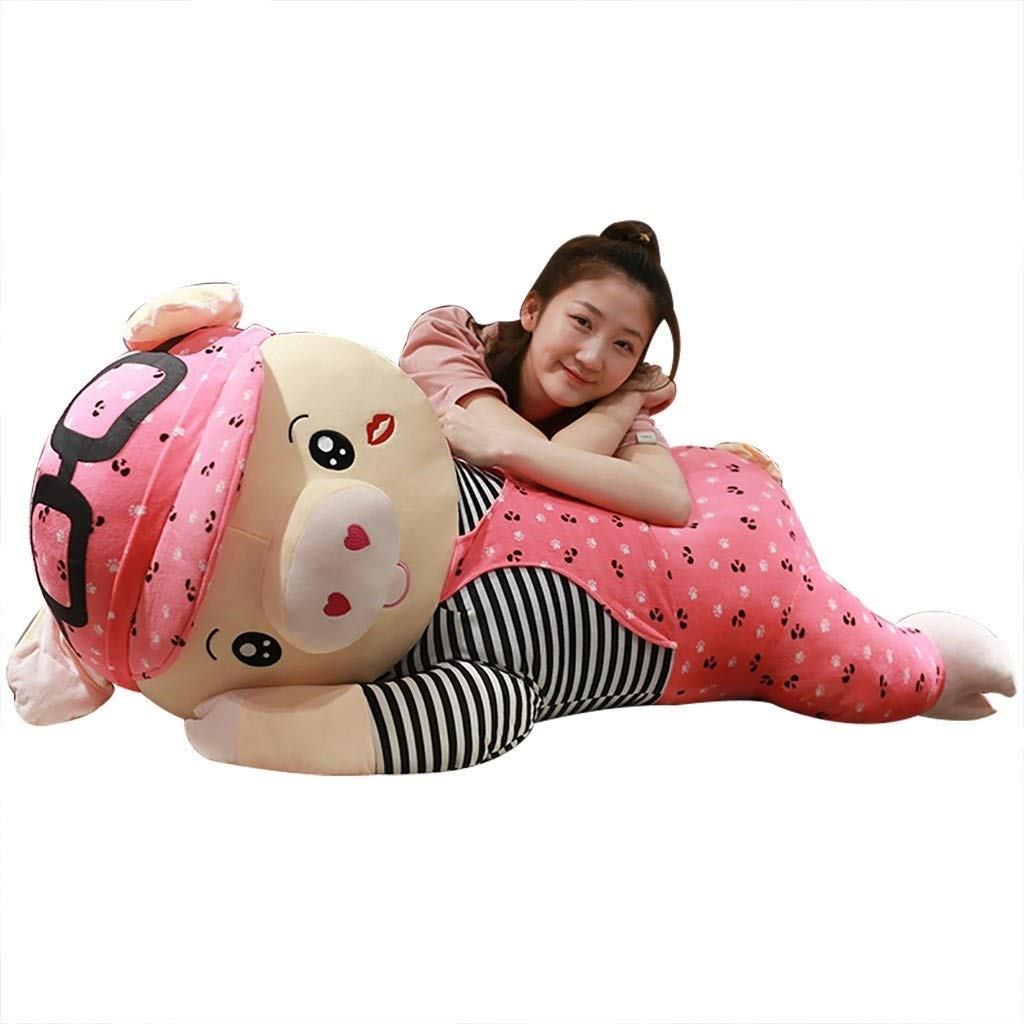 rose 120cm Peluches Géante en Oreiller Oreiller Oreiller Poupée Poupée Poupée Rag Poupée Cadeau d'anniversaire (Couleur   rose, Taille   100cm)