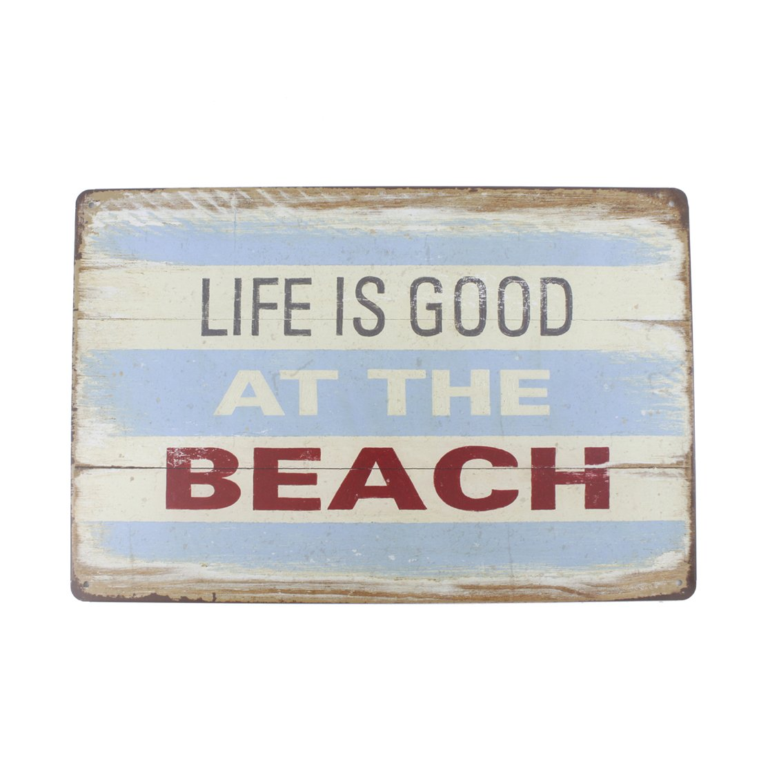 Life is Good at The Beach 12x8 Inches Pub,bar,Home Wall Decor Souvenir Hanging Metal Tin Sign Plate Plaque Homesweeter1900 model