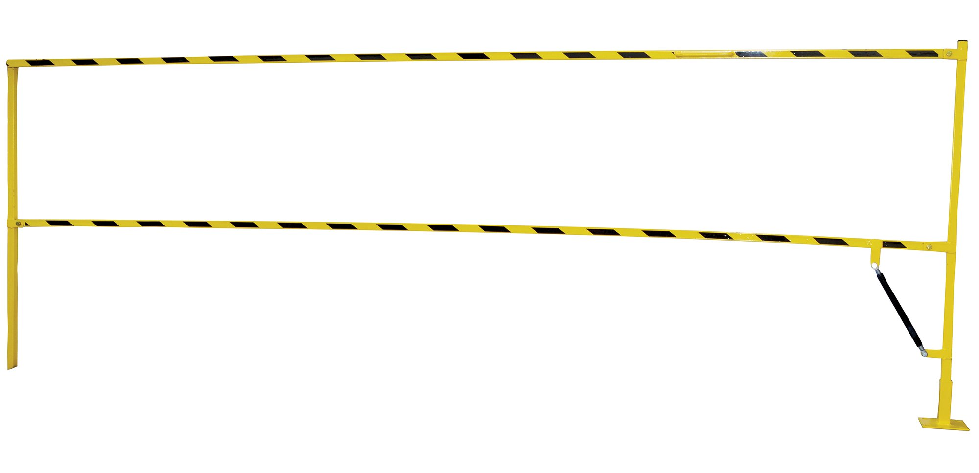 Vestil SLG-10 Safety Lift Gate, Overall W x L x H (in.) 121-3/4 x 4 x 43-3/4, Overall Height Raised (in.) 159, Overall Height Lowered (in.) 43-3/4, Yellow