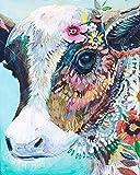 21secret 5D Diamond Diy Painting Full Drill Handmade Beautiful Color Flower Cow Cross Stitch Home Decor Embroidery Kit