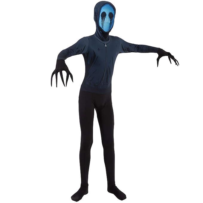 Morphsuits Jack Vestuario Ojos Oficial Leyendas urbanas Halloween de los niños del Vestido Grande (Edad 10-12)