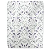 Flowers On The Gothic Gate Fitted Sheet: King Luxury Microfiber, Soft, Breathable
