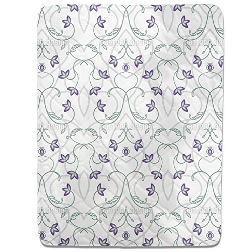 Flowers On The Gothic Gate Fitted Sheet: King Luxury Microfiber, Soft, Breathable by uneekee