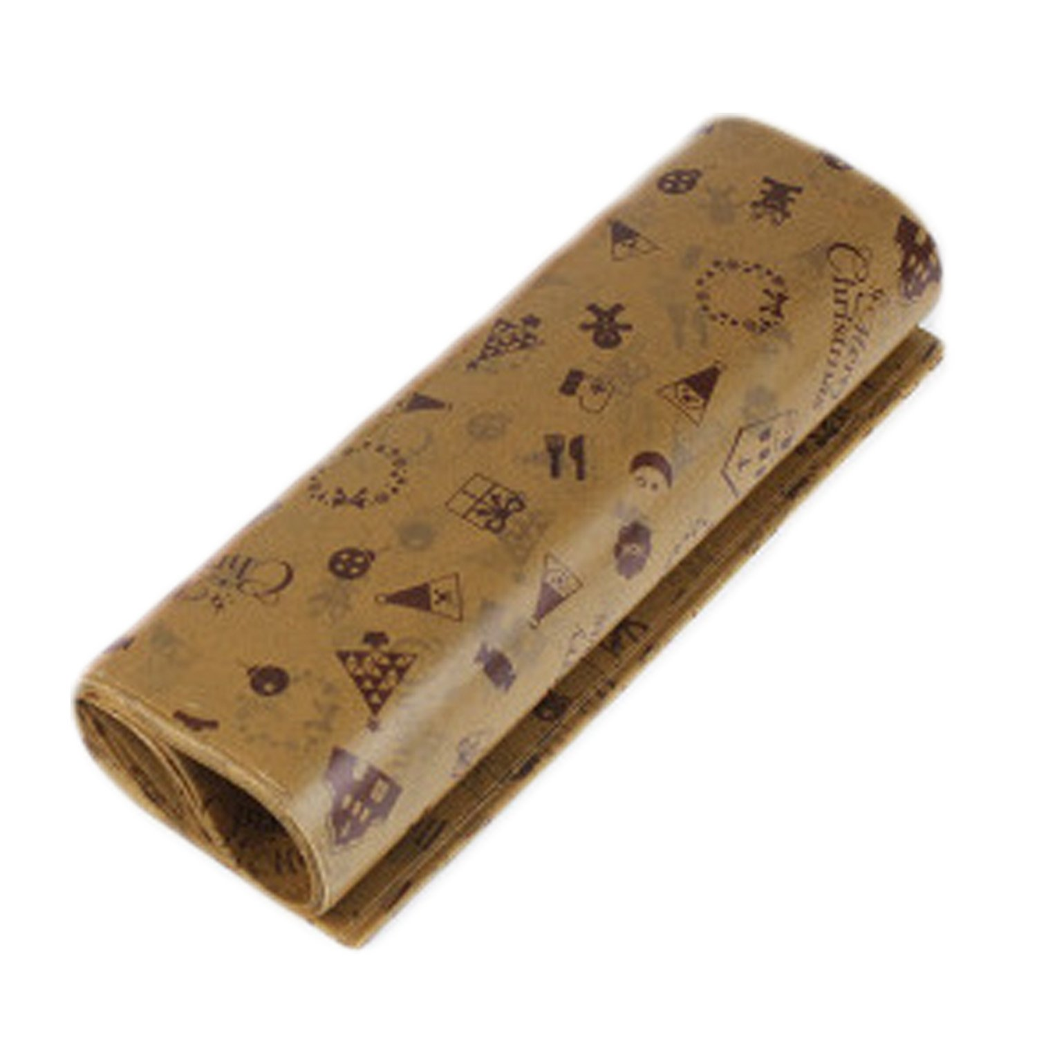 Gosear 50 Sheets Oilpoof Food Wax Paper Candy Wrapping Packaging Paper Sheet For Almond Sugar Chocolate Cookie Macaron Hamburger Cake Bread Chocolate Style