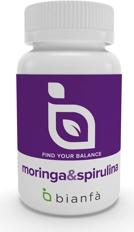 Moringa & Spirulina Bianfà, con Alga Azul. 90 capsulas de 500 ...