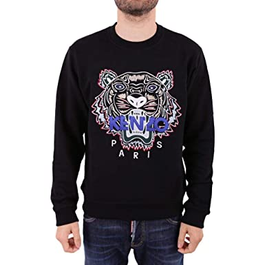 5ec97e23817 Kenzo Mens Tiger Sweatshirt, Long Sleeve Black Sweat (XXL) at Amazon Men's  Clothing store: