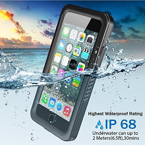 new products 6b710 3507f iPhone 8 Plus Waterproof Case, iPhone 7 Plus Waterproof Case, GOCOOL IP68  with Built-in Screen Protector, Clear Sound Sealed Case for iPhone 7 Plus/8  ...
