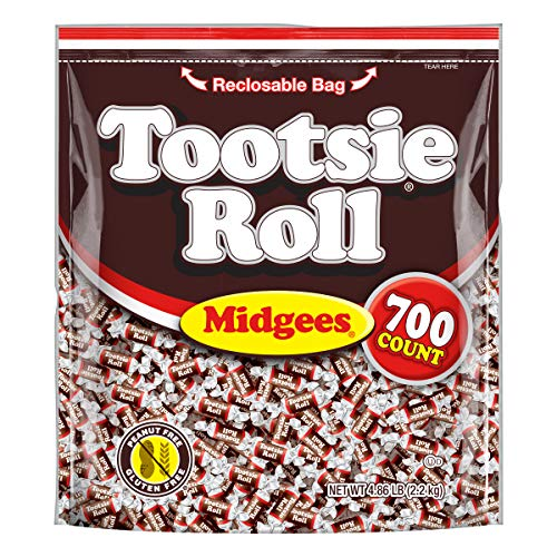 Tootsie Roll Midgees, Resealable Stand-up Pouch, 700-Count
