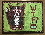 Where's The Food? (WTF) Cat Bowl Food Dish Mat. Premium Quality. MADE IN USA.