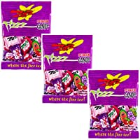 Zotz Italian Hard Candy With Fizzy Powder Inside - Three Pack - Cherry, Grape, And Watermelon - Three 2.8 oz Retail Packs