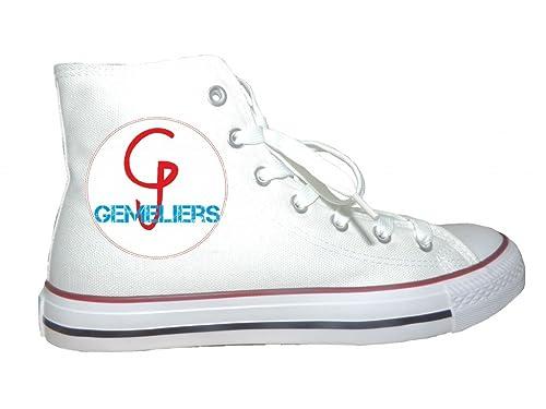 Zapatillas Personalizadas Logo Gemeliers - 41, Blanco: Amazon.es: Zapatos y complementos
