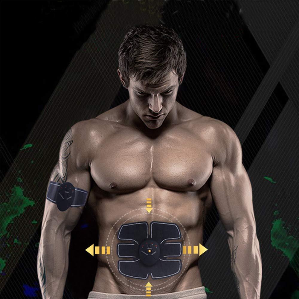 Cali Jade EMS Muskeltrainer Fitness-Studio-Training und Heimfitness-Trainingsg/ürtel f/ür M/änner und Frauen mit 10 Gel-Pads Bauchmuskelstimulator Bauchmuskeltoner