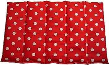 Kirschkernkissen W/ärmekissen TUPFEN 11 Farben 6 Gr/ö/ßen 60 x 20 cm, Rot