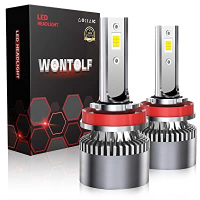 Wontolf H11 LED Headlight Bulb H8 H9 18000LM High Power Superb Bright 6000K Cool White CSP Chips Conversion Kit Adjustable Beam: Automotive