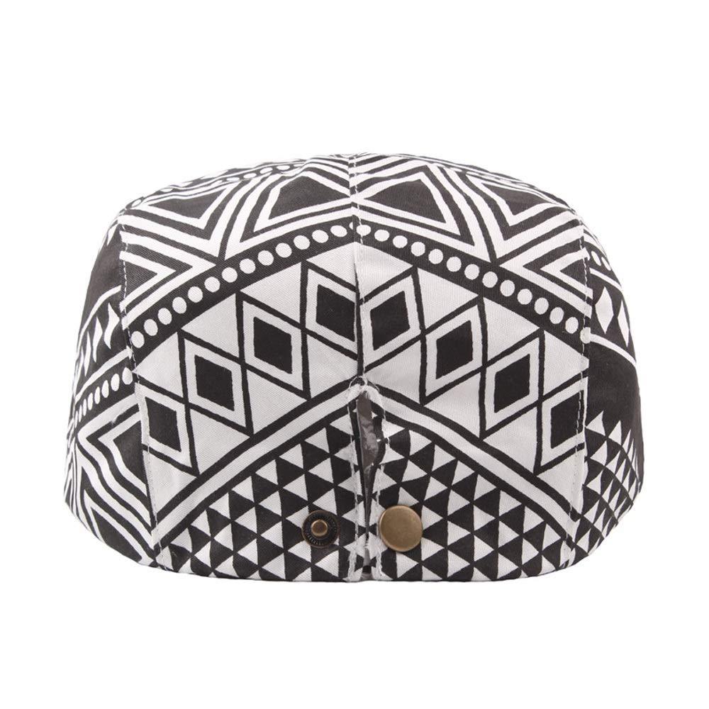 Beret Cap Summer Cotton Lady Geometric Pattern Cap Vents Outdoor Mens Sun Hat Fashion Hats