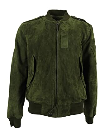 Polo Ralph Lauren Men\u0027s Suede Bomber Jacket (S, Armadillo)