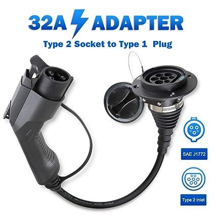 32Amp, trif/ásico, 22KW Tipo 2 a Tipo 2 Conectores de carga para veh/ículos el/éctricos IEC62196-2 TOPQSC Cables de carga para veh/ículos el/éctricos