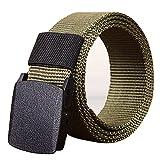 Strap Belts,Men's Outdoor Sports Nylon Waistband Canvas Web Belt Dazzling,Men's Accessories,Army Green,2019 Clearace Sale
