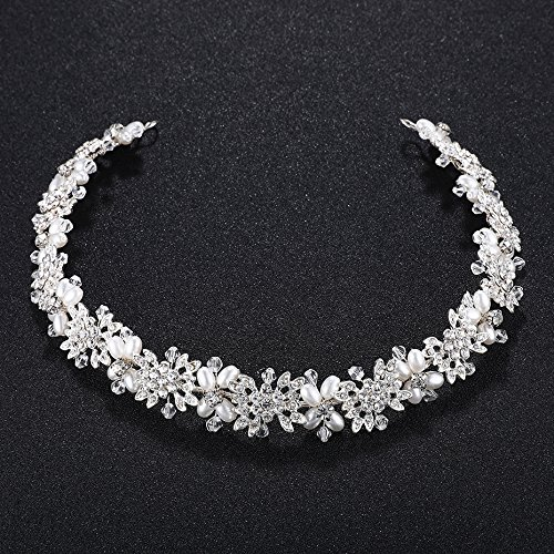 Ammei Bridal Headpiece Flower Design Wedding Headband Bridal