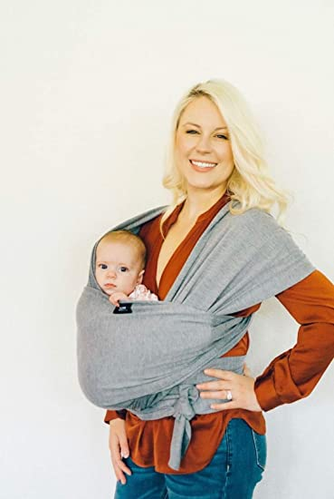 Baby Wrap Sling Carrier Newborn Infant Toddler Boy Or Girl Shower Gift In Grey Hands Free Baby