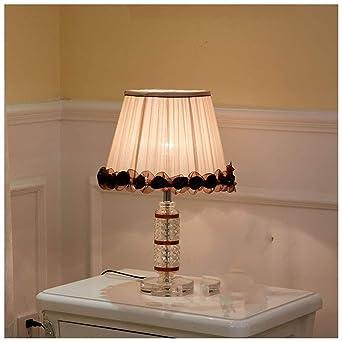 HAN NAA Lámpara de mesa, dormitorio Lámpara de mesa de cristal ...