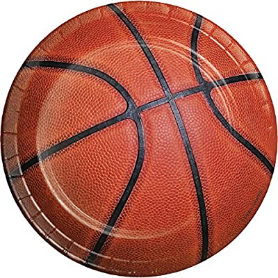 Basketball Dessert Plates, 24 ct: Health & Personal Care