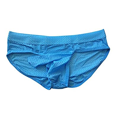 54c342233 Men Sexy Breathable Mesh Briefs Fashion Low Waist Pouch Thongs G-string  Underwear  Amazon.co.uk  Clothing