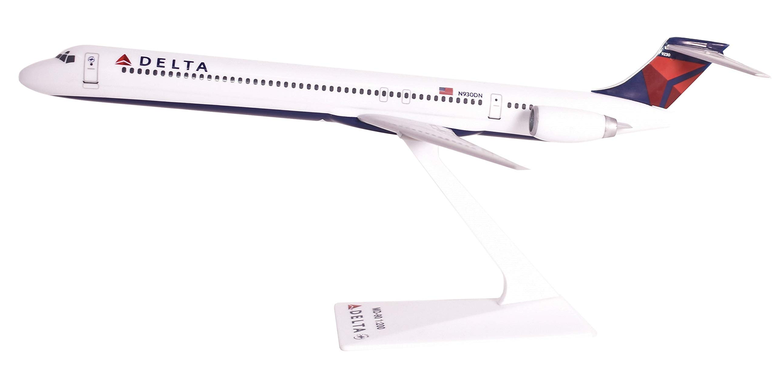 Delta (MD-90) Airplane Miniature Model Plastic Snap Fit 1:200 Part#AMD-09000H-008