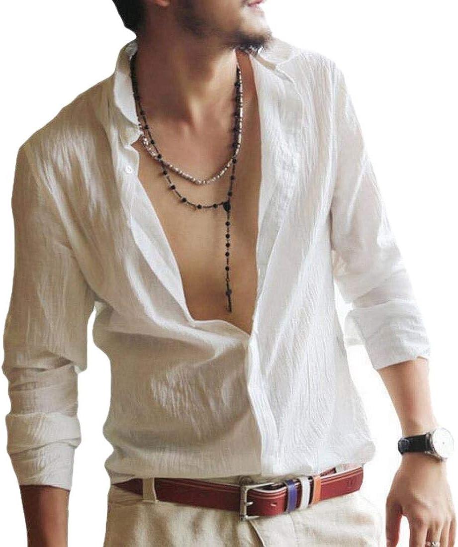 WSPLYSPJY Mens Spread Collar Comfort Slim Fit Basic Cotton Non Iron Dress Shirts