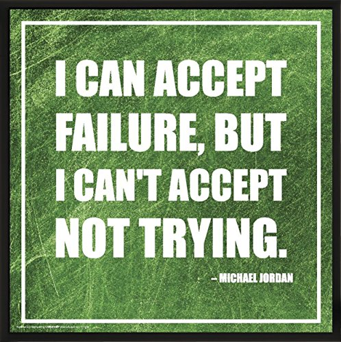 Culturenik Michael Jordan Failure Inspirational Motivational Sports Basketball Icon Quote Print (Framed 12x12 Poster)