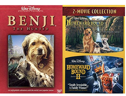 Movie Tails Collection Benji The Hunted + Homeward Bound + Incredible Journey & Lost in San Francisco Triple Feature DVD bundle (The Adventures Of Milo And Otis 2)