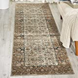 Kathy Ireland Worldwide MAI04 Rustic/Vintage Traditional Area Rug, 2'2″ x7'7, Taupe