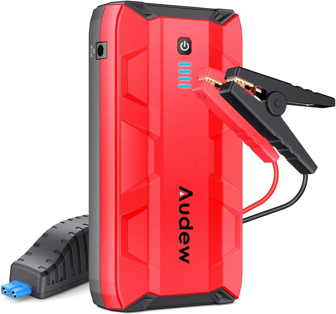 HelloCreate Car Jump Starter,Portable Charger Power Bank Portable 12V Engine Battery for Gasoline Engine 3.0L
