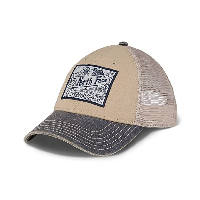 b4f4a3fa Amazon.com: The North Face Broken in Trucker Hat - TNF Oatmeal  Heather-Urban Navy: Sports & Outdoors