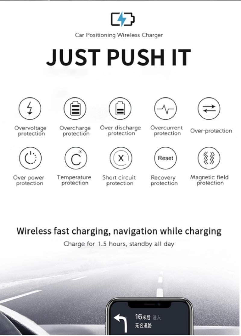 Wireless Car Charger Phone Mount and Holder Car Air Vent /& Dashboard Universal Phone Holder 10W Fast Charging for iPhone 8//8 Plus//X//XS//XR//XS MAX//11//11Pro,Samsung Galaxy /& QI-Enabled Smartphone