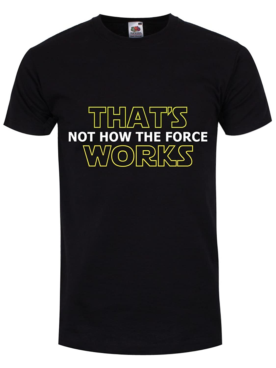 Men39s That39s Not How The Force Works T Shirt Black Is A Diagram Very Easy To Understand Compared Original Clothing