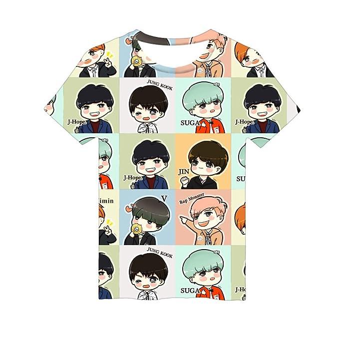 KPOP BT21 T-Shirt BTS Bangtan Boys Love Yourself Jimin Suga V Jin Tee Shirt Top