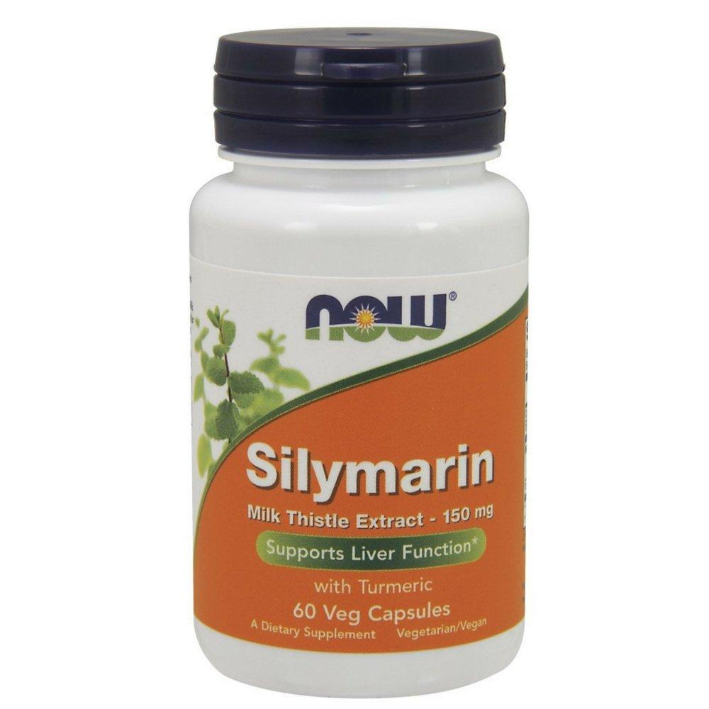 NOW Silymarin Milk Thistle Extract 150 mg,60 Veg Capsules