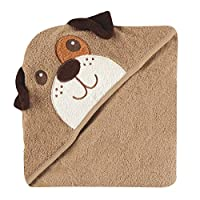 Luvable Friends Animal Face Hooded Towel, Dog