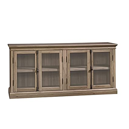 Sauder 414721 Salt Oak Finish Barrister Lane Storage Credenza