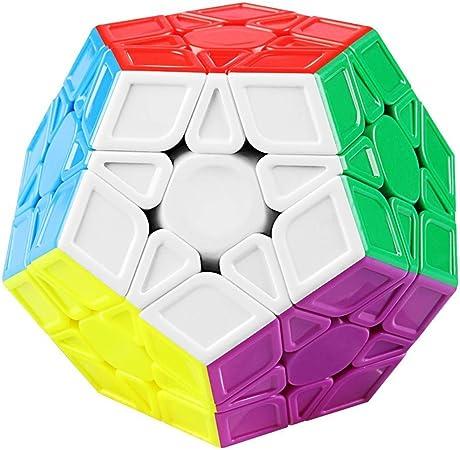 Kiwilon Stickerless Megaminx Cube High Speed Toys for Kids