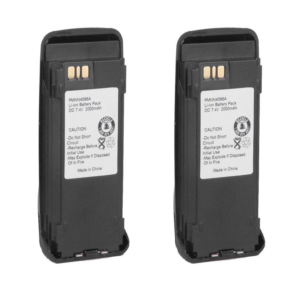 Masione 2 Pack 7.4v PMNN4077C Lithium ion Battery for Motorola IMPRES Radios XPR6100 XPR6300 XPR6350 PR6380 XPR6500 XPR655